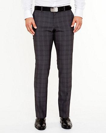 Woven Check Slim Leg Pant