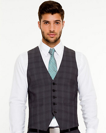 Woven Check City Fit Vest