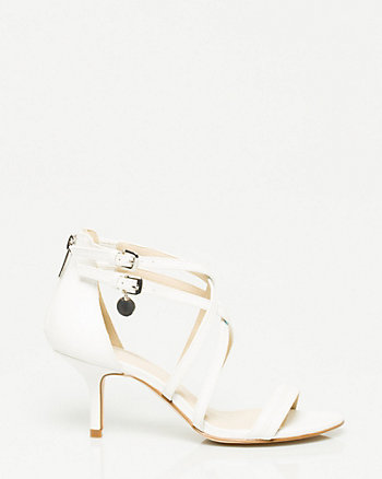 Lizard Embossed Strappy Sandal