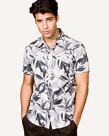 Camo Print Cotton Shirt