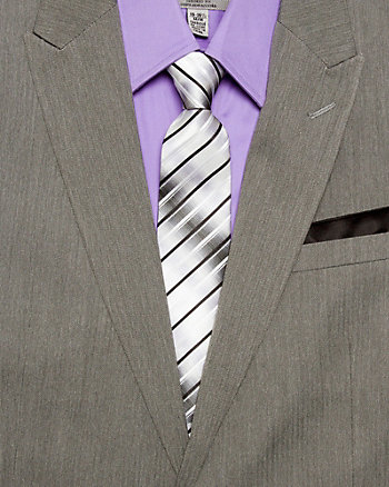 Stripe Silk Tie Set