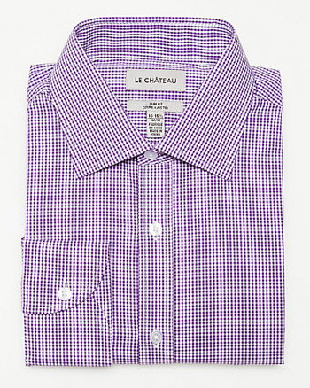 Check Print Slim Fit Shirt