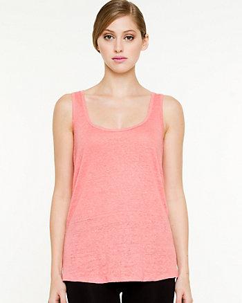 Linen Knit & Lace Top