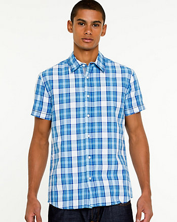 Check Print Short Sleeve Shirt