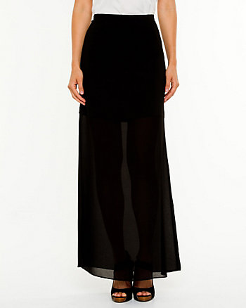 Chiffon A-Line Skirt