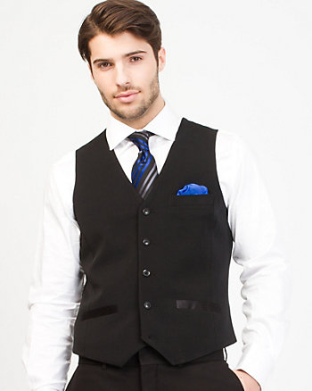 Stretch Twill Contemporary Fit Vest