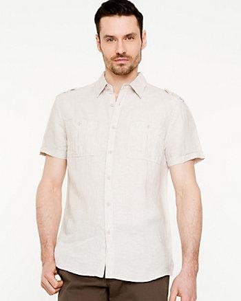 Chemise de lin à manches courtes