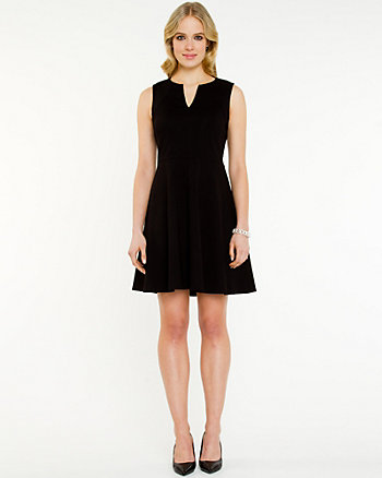 Stretch Split V-Neck Dress