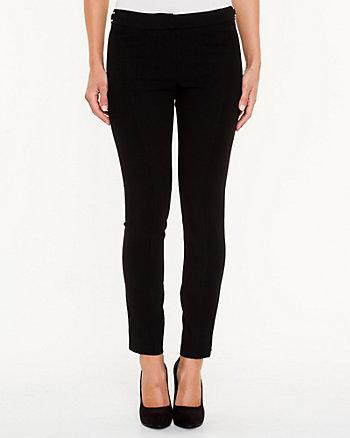 Double Weave Slim Leg Pant