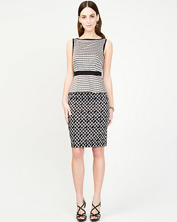 Geo Print Peplum Dress