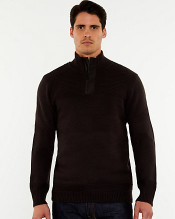Wool Blend Funnel Neck Sweater