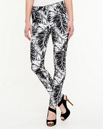 Tropical Print Skinny Leg Pant