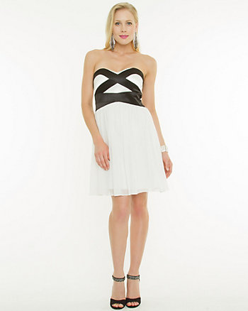 Chiffon Sweetheart Cocktail Dress