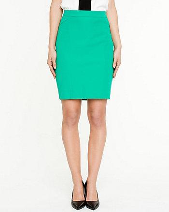 Cotton Twill Pencil Skirt
