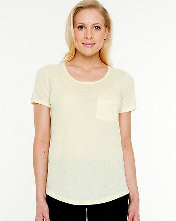 T-shirt essentiel à imprimé par dévorage en mélange de coton