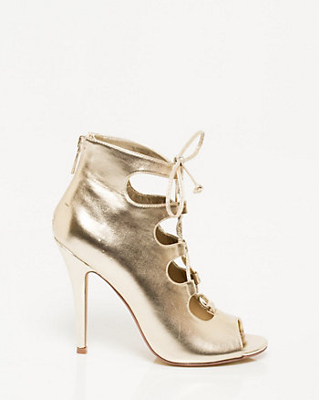 Metallic Lace-up Shootie