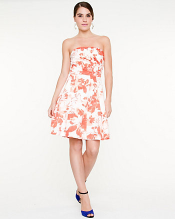 Floral Fit and Flare Tube Dress