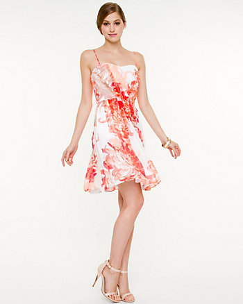 Chiffon Print Fit and Flare Dress
