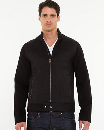 Wool Blend Funnel Neck Mailman Coat