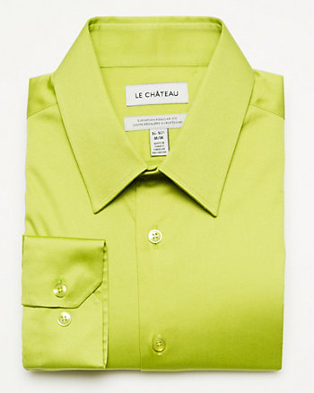 Cotton Blend European Fit Shirt
