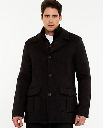 Twill Notch Collar Car Coat