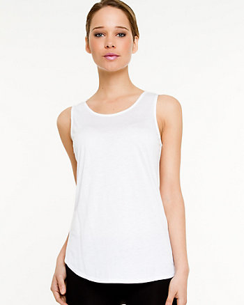 Jersey Knit Scoop Neck Tank Top