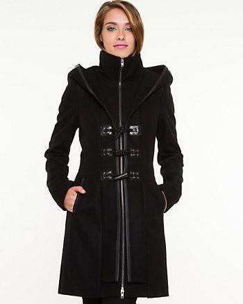 Melton Hooded Coat
