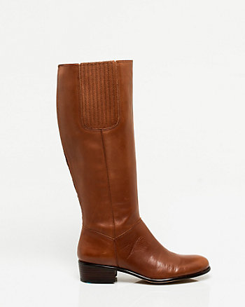 Leather Round Toe Boot