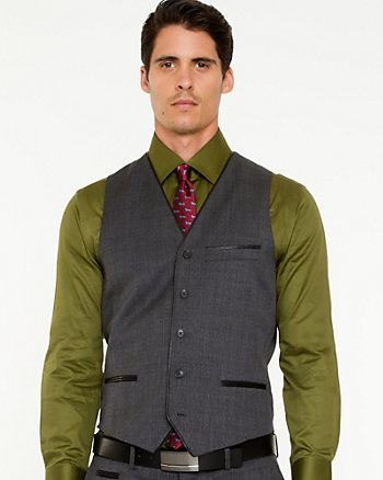 Wool Blend City Fit Vest