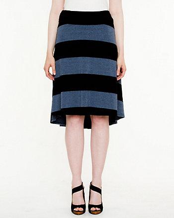 Jersey High-Low Hem Skirt
