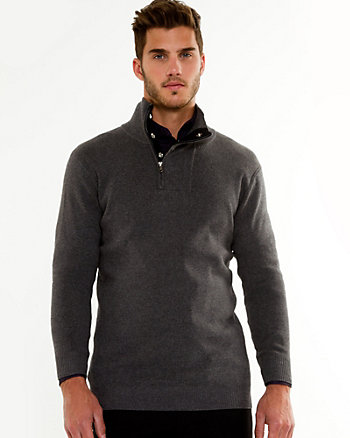 Cotton Funnel Neck Sweater