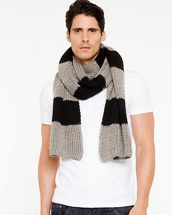 Bold Stripe Knit Scarf