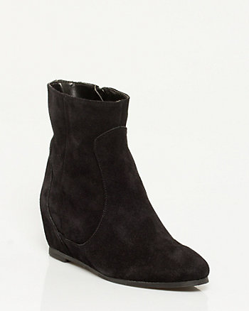 Suede Round Toe Boot