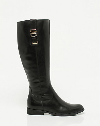 Italian Design Leather Knee-High Boot