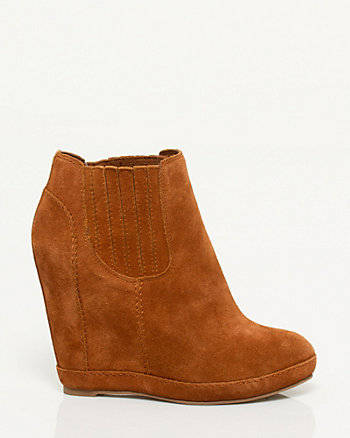 Suede Wedge Shootie