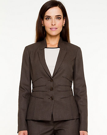Notch Collar Fitted Blazer