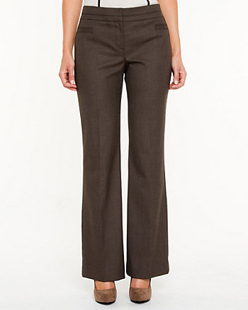 Modern Fit Slightly Flared Textured Pant