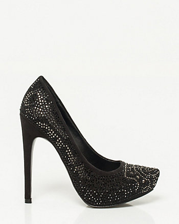 Embellished Almond Toe Pump