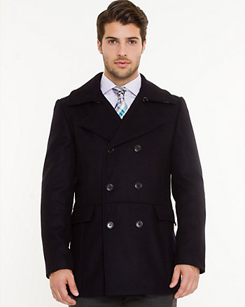 Melton Double Breasted Coat