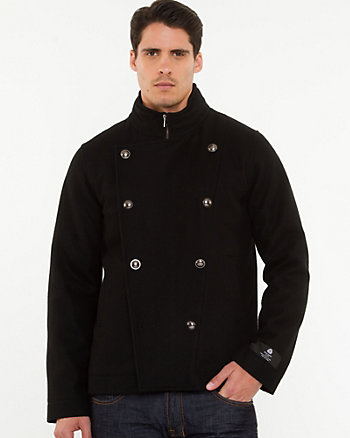 Melton Funnel Neck Mailman Jacket