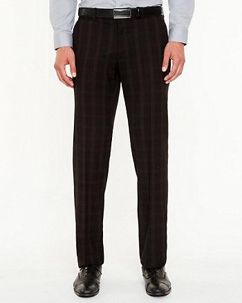 Pantalon à jambe droite et carreaux