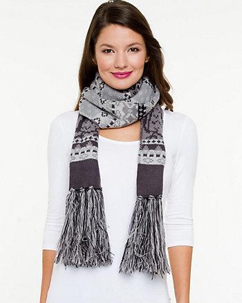 Knit Pompom Scarf