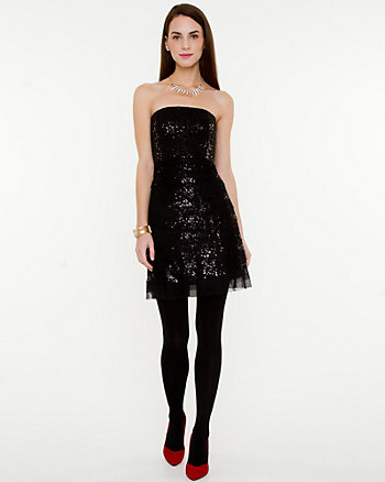 Sleeveless Sequin Cocktail Dress