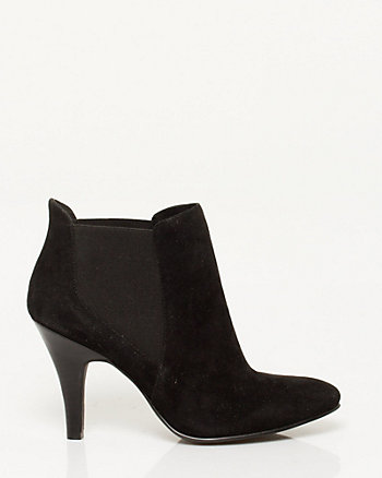 Suede Pointy Toe Bootie