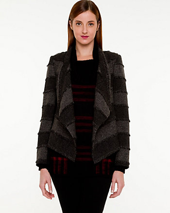 Tweed Open-front Blazer