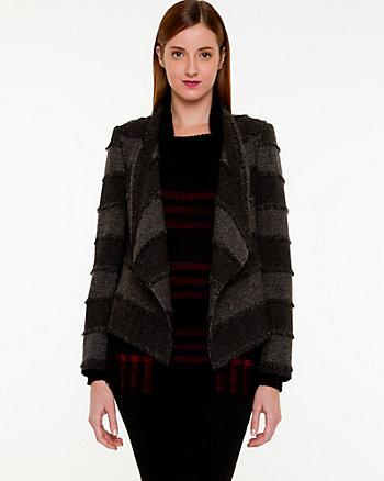 Veste ouverte en tweed