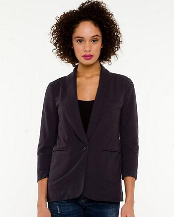 Jersey Shawl Collar Blazer
