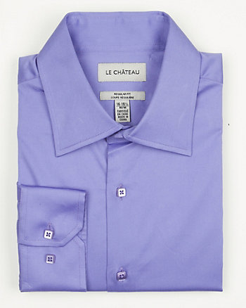 Stretch Sateen Italian Collar Shirt