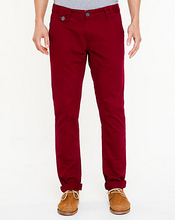 Cotton Slim Leg Pant