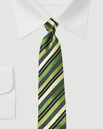 Silk Diagonal Stripe Tie